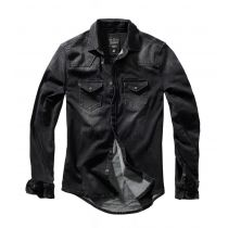 Riley denim Shirt-Washed black