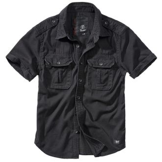 Heavy vintage shortsleeve shirt-Black